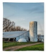 Abandoned Countryside Farm In The Afternoon Fleece Blanket