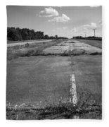 Abandoned Route 66 Fleece Blanket