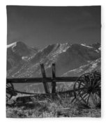 Abandoned Wagon In The High Sierra Nevada Mountains Fleece Blanket