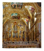 Abbey Of Montecassino Altar Fleece Blanket