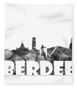 Aberdeen Scotland Skyline Fleece Blanket