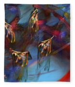 Abstract 102910 Fleece Blanket