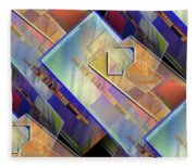 Abstract  145 Fleece Blanket