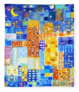 Abstract City Fleece Blanket