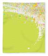 Abstract Curved Fleece Blanket