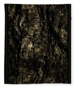 Abstract Gold And Black Texture Fleece Blanket