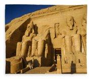 Abu Simbel Fleece Blanket