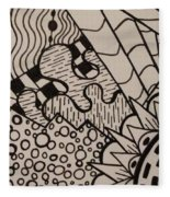 Aceo Zentangle Abstract Design Fleece Blanket