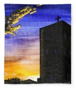 Adobe Church Fleece Blanket