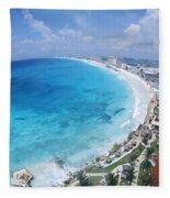 Aerial Of Cancun Fleece Blanket