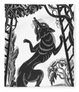 Aesop: Fox & Grapes Fleece Blanket