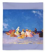 afternoon fun Edward Henry Potthast Fleece Blanket