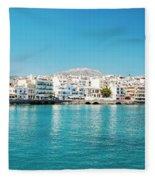 Agios Nikolaos Panorama Fleece Blanket