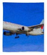 Air Canada Boeing 767 Art Fleece Blanket