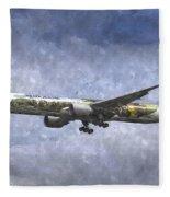Air New Zealand Hobbit Boeing 777 Art Fleece Blanket