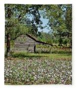 Alabama Cotton Field Fleece Blanket