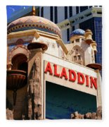 Aladdin Hotel Casino Fleece Blanket
