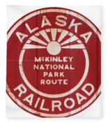 Alaska Railroad Aged Fleece Blanket