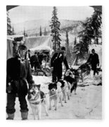 Alaskan Dog Sled, C1900 Fleece Blanket