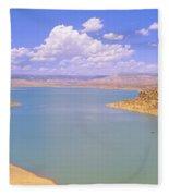 Albiquiu Reservoir, Route 84, New Mexico Fleece Blanket