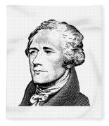 Alexander Hamilton - Founding Father Graphic  Fleece Blanket