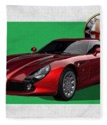 Alfa Romeo Zagato  T Z 3  Stradale With 3 D Badge  Fleece Blanket