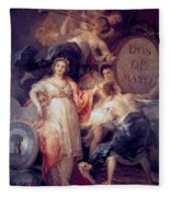 Allegory Of The City Of Madrid Fleece Blanket