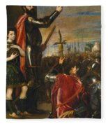 Allocution Of Marquis Del Vasto To His Troops Fleece Blanket
