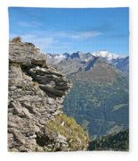 Alps Mountain Landscape  Fleece Blanket