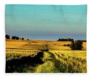 Amber Waves Of Grain Fleece Blanket
