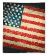 America Flag Fleece Blanket