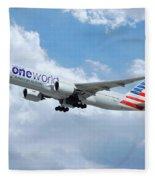 American Airlines Boeing 777 Fleece Blanket