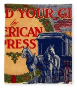 American Express Shipping Fleece Blanket