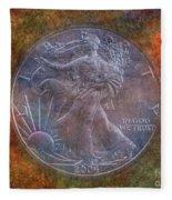 American Silver Eagle Dollar Fleece Blanket