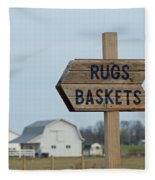 Amish Sign Fleece Blanket