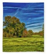 An Autumn Golf Day Fleece Blanket