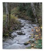 An Autumn Stream Fleece Blanket