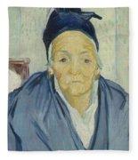 An Old Woman Of Arles Arles, February 1888 Vincent Van Gogh 1853 - 1890 Fleece Blanket