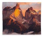 Andes Mountains Fleece Blanket