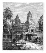 Angkor Wat, Cambodia, 1868 Fleece Blanket