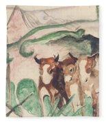 Animals In A Landscape Fleece Blanket