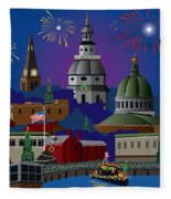 Annapolis Holiday Fleece Blanket