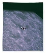 Apollo Mission 16 Fleece Blanket