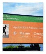 Appalachian National Scenic Trail Fleece Blanket