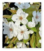Apple Blossoms 0936 Fleece Blanket