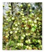 Apple Tree Fleece Blanket