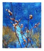 Apricot Blossoms El Valle Fleece Blanket
