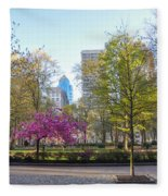 April In Rittenhouse Square Fleece Blanket
