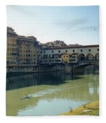 Arno River In Florence Italy Fleece Blanket