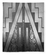 Art Deco Door Fleece Blanket